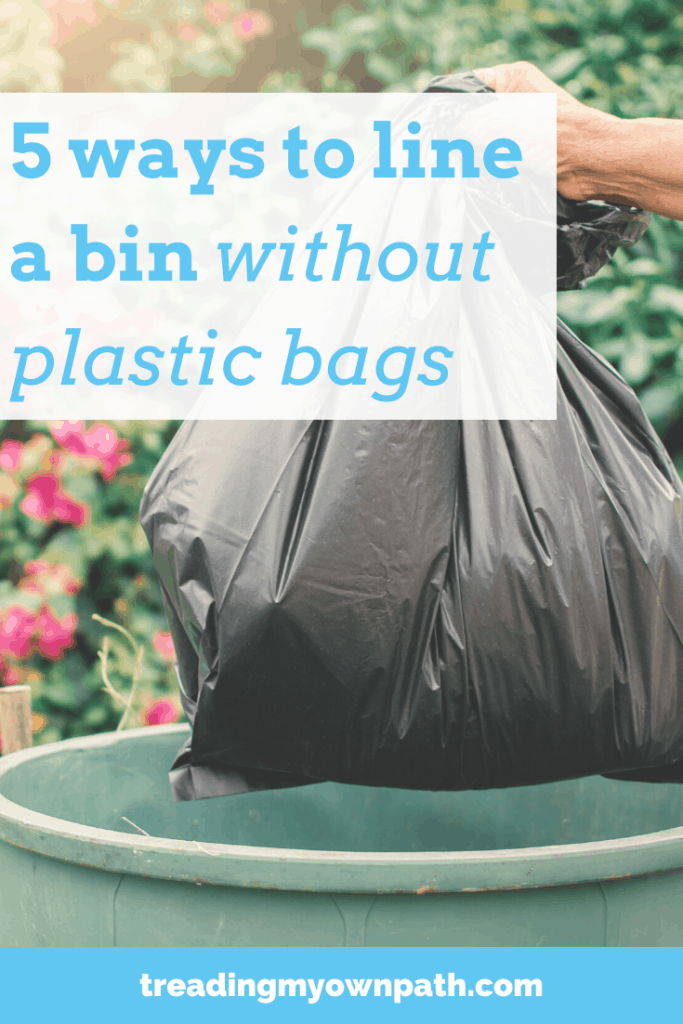 5 Ways To Line A Bin Without Plastic Bags Treading My Own Path Less Waste Less Stuff Sustainable Living