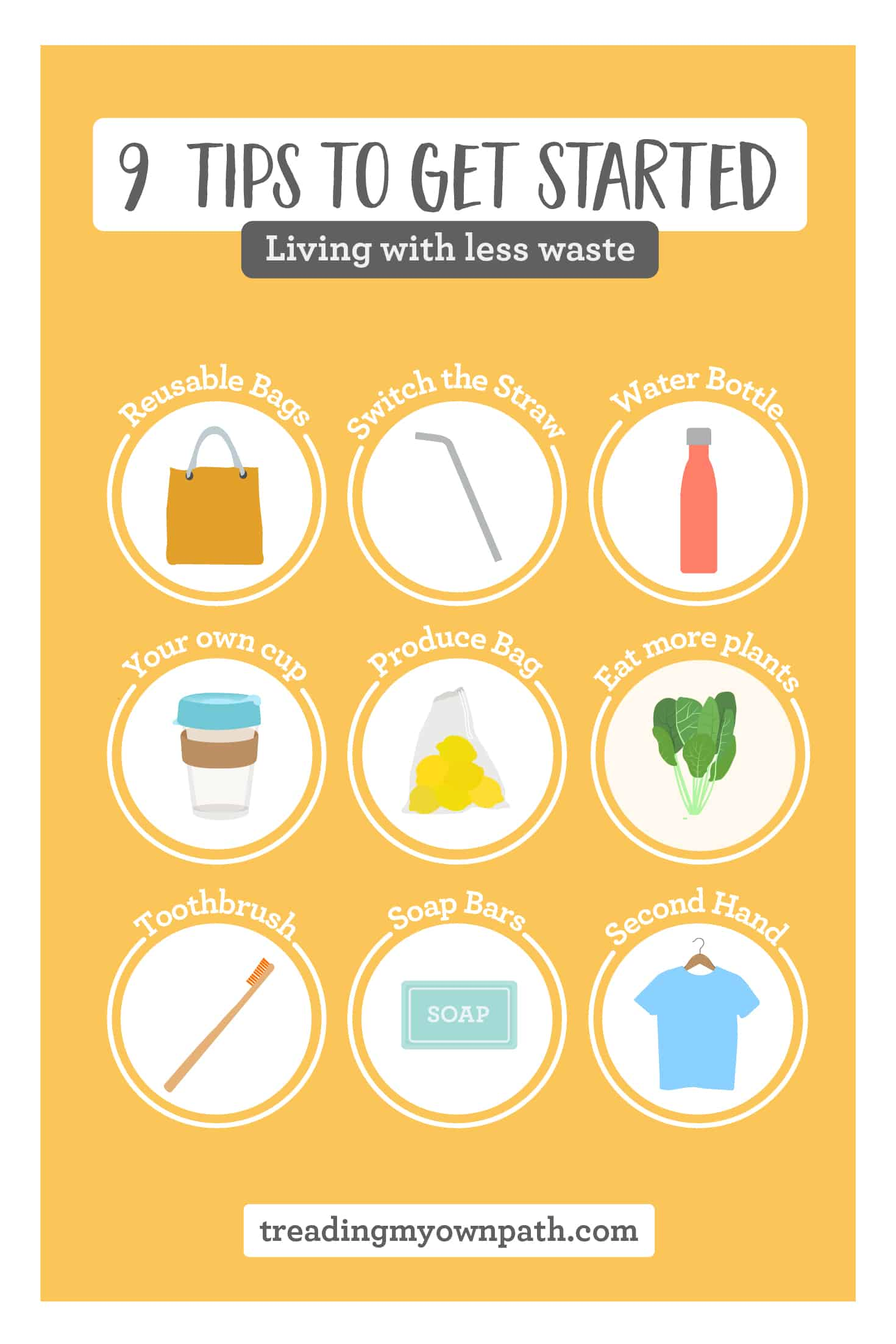 5 Tips for living with less waste and a free PDF download
