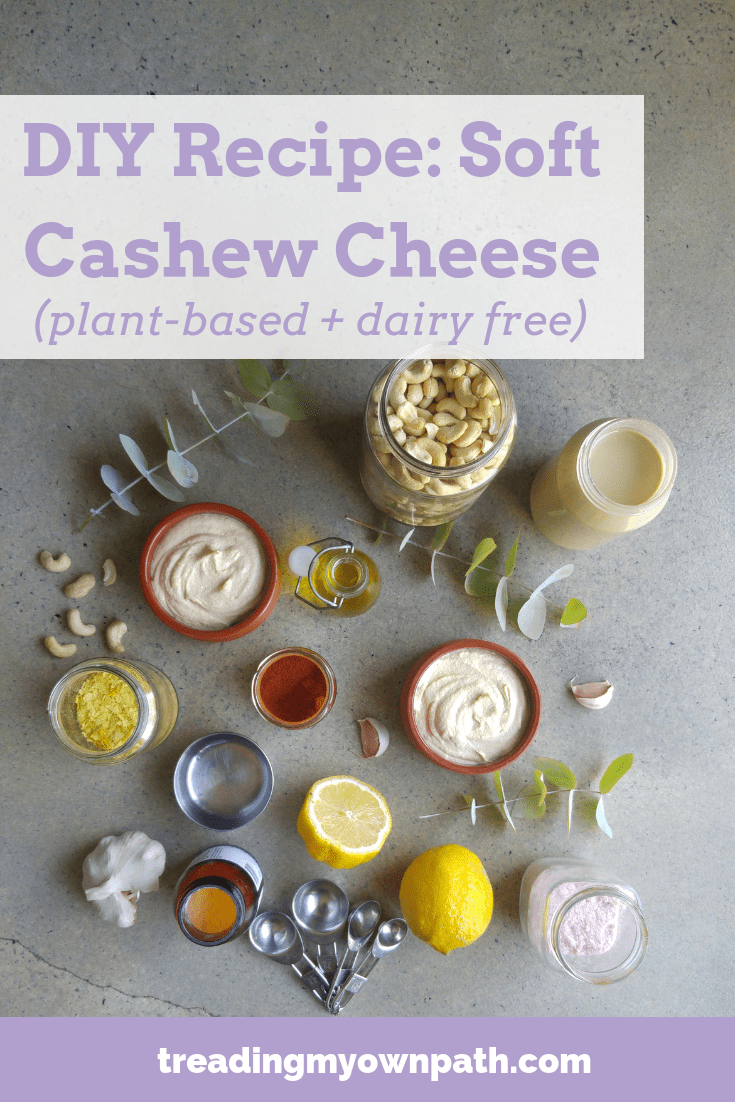 DIY Cashew Nut Cheese Recipe: A soft, spreadable, tangy, cheesy \