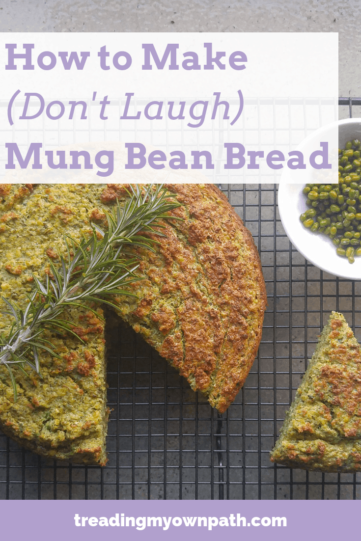 How to Make Mung Bean Bread (and Adzuki Bean Bread) from Treading My Own Path | Zero Waste + Plastic-Free Living | Less waste, less stuff, sustainable living, eco-friendly choices. Plant-based recipe, gluten-free bread, what to cook with mung beans, moong recipe, homemade, plastic-free cooking, zero waste kitchen, zero waste cooking, reducing trash in the kitchen, dairy free baking. More ideas at https://treadingmyownpath.com