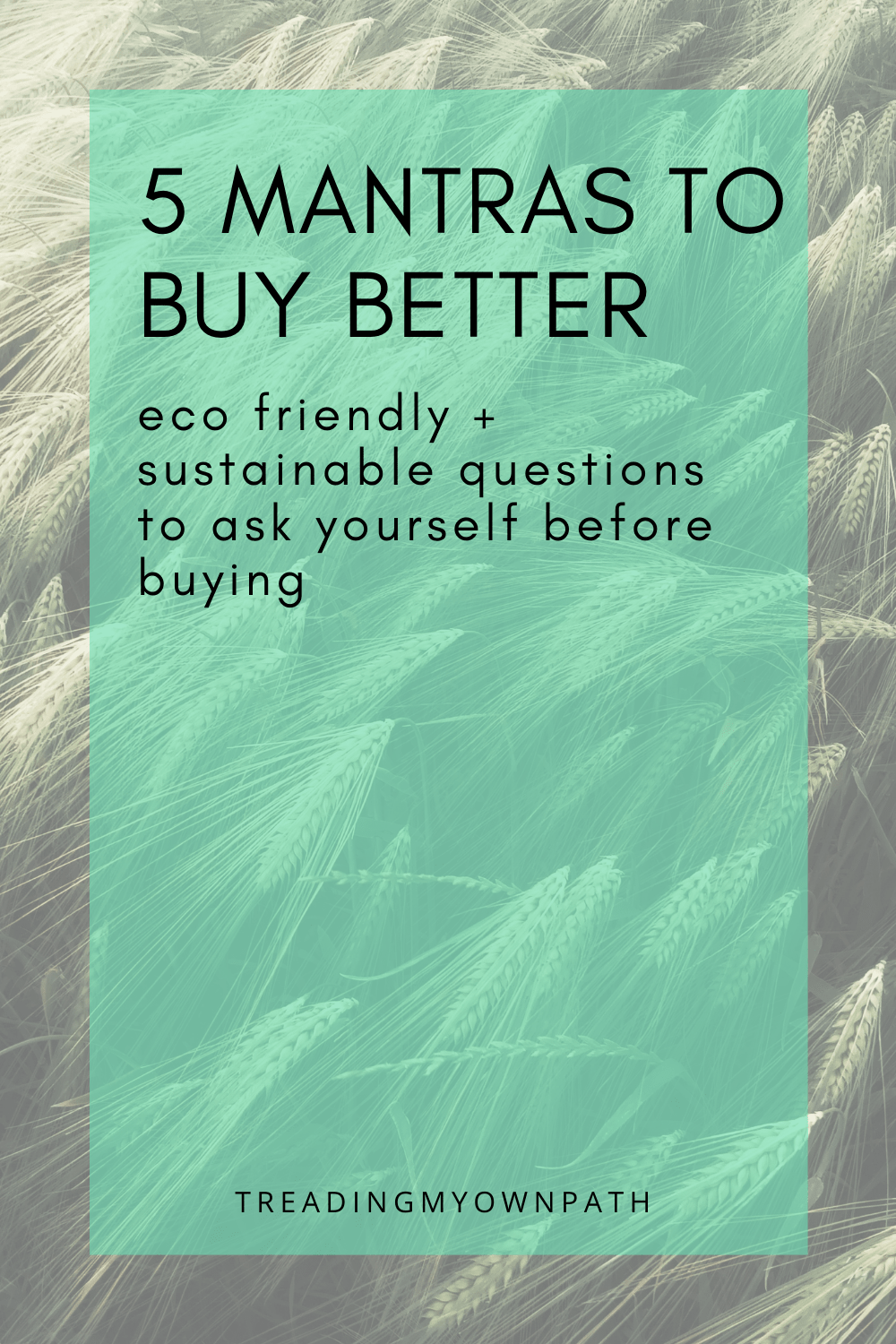 5 Mantras for Buying Better