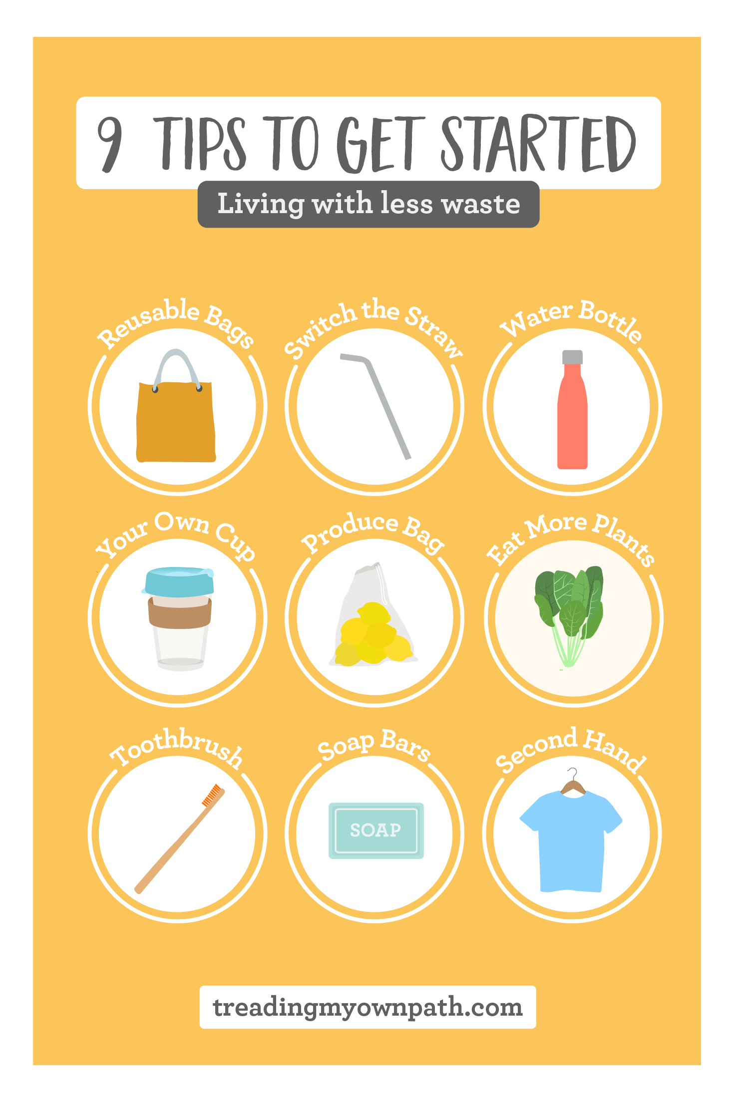 9 tips to get started living with less waste