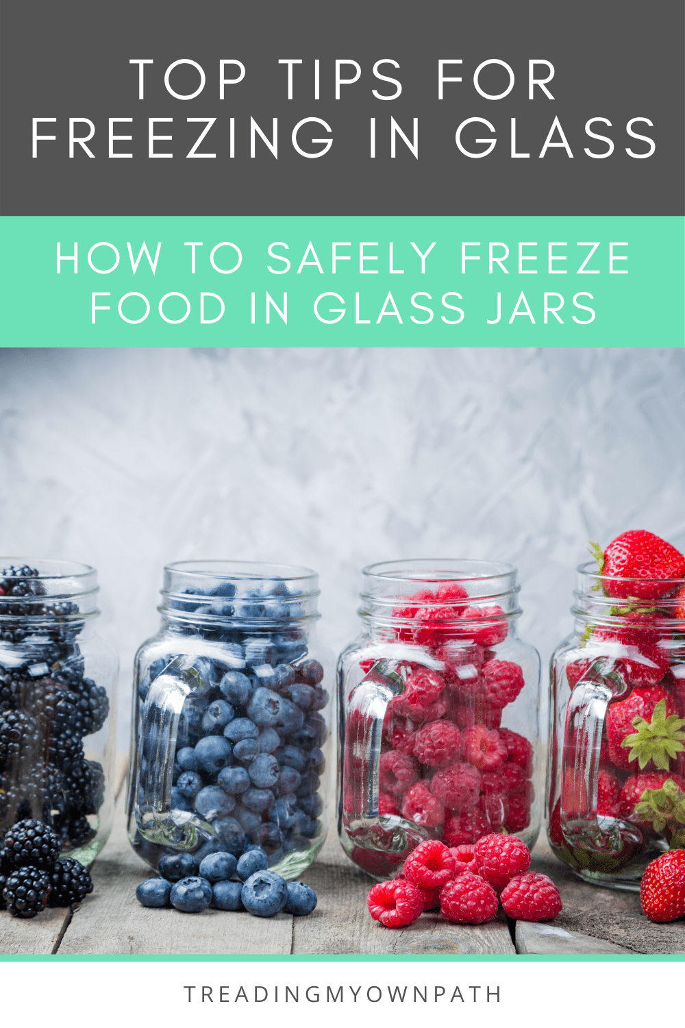How to freeze food in glass jars (+ defrost it safely)